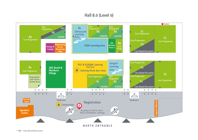 Floorplan Hall 8 - level 0