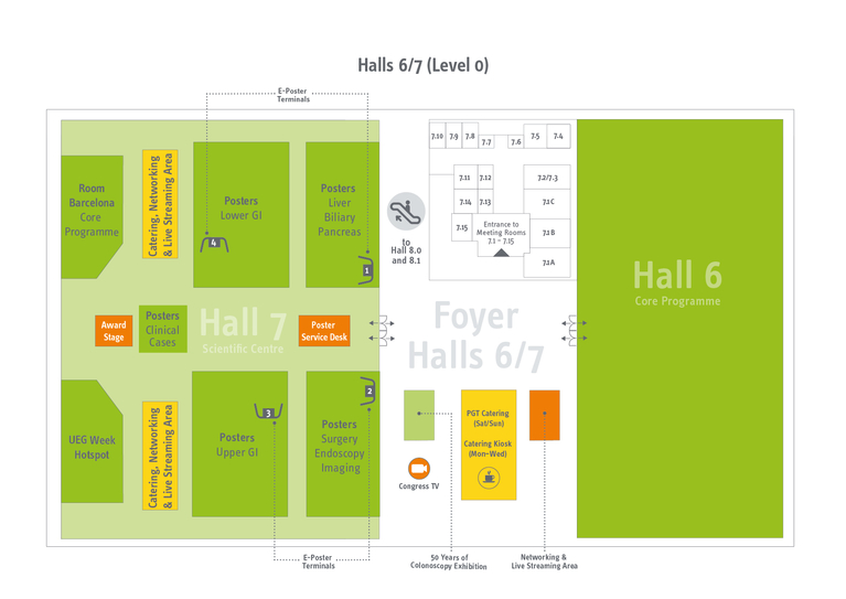 Floorplan Halls 6/7 - level 0