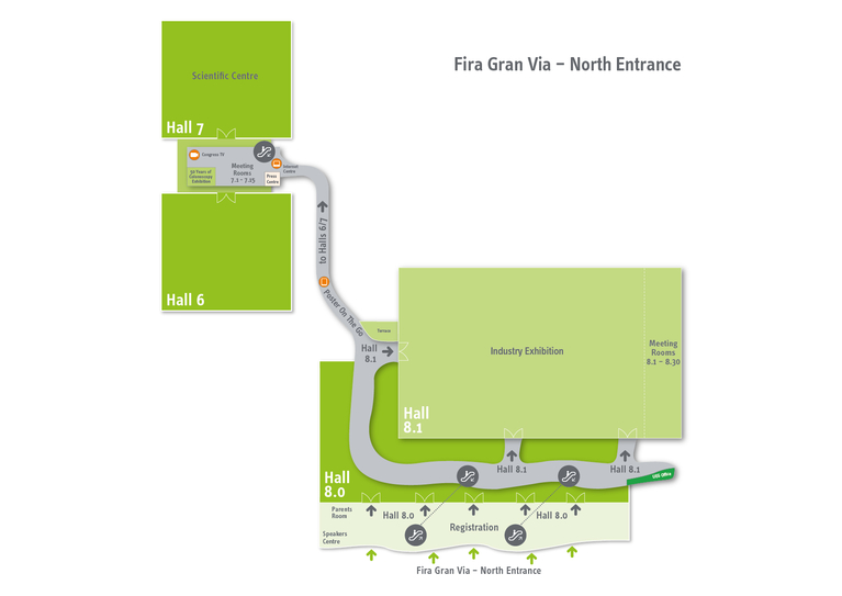 Floorplan Fira Gran Via – North Entrance